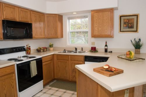 kitchen in townhome