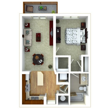 1 Bedroom version 3