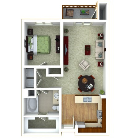 1 Bedroom version 4