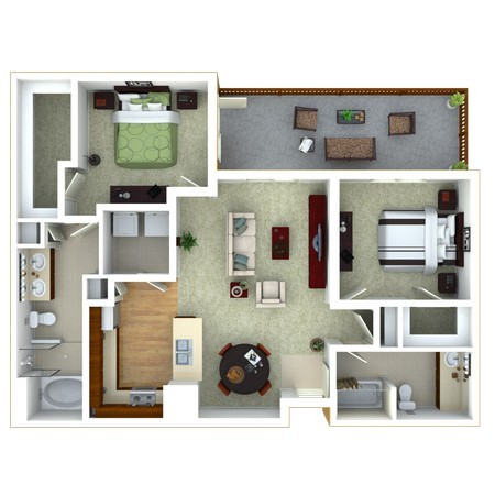 2 Bedroom version 2