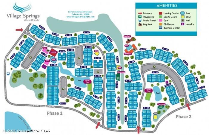 Village springs apartments in orlando florida for 1 bedroom apartments in orlando under 600