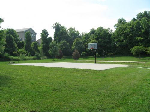 basketball and volleyball courts