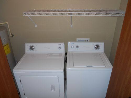 Full size washer and dryer in every unit!