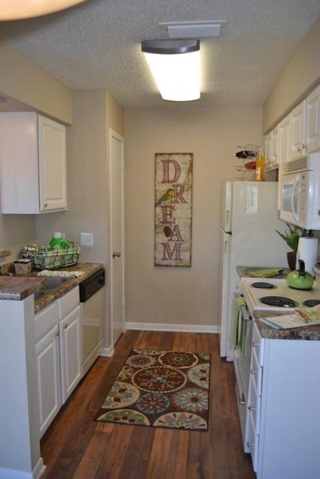 Newly remodeled kitchens with upgraded cabinets.
