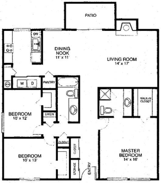 Toscana villas apartments in las vegas nevada for 3br 2ba floor plans