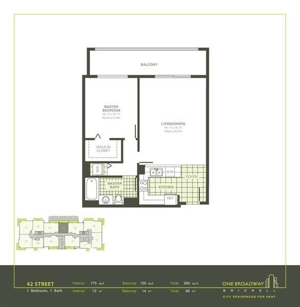 One broadway apartments in miami florida for Apartment floor plans 2500 sq ft