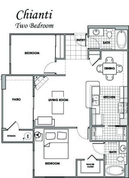 Villas at villaggio apartments in modesto california for Juice bar floor plan