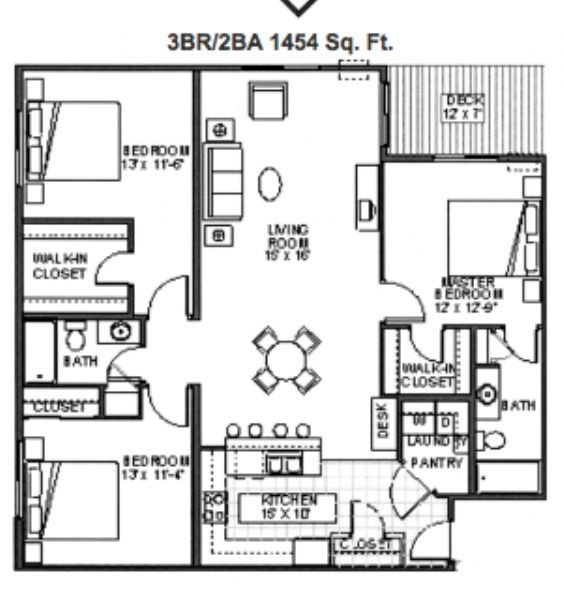 Amber crossing apartments in fargo north dakota for 3br 2ba floor plans