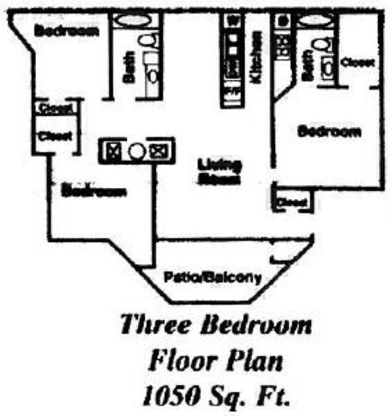 Seasons at pebble creek apartments in salt lake city utah for 3br 2ba floor plans