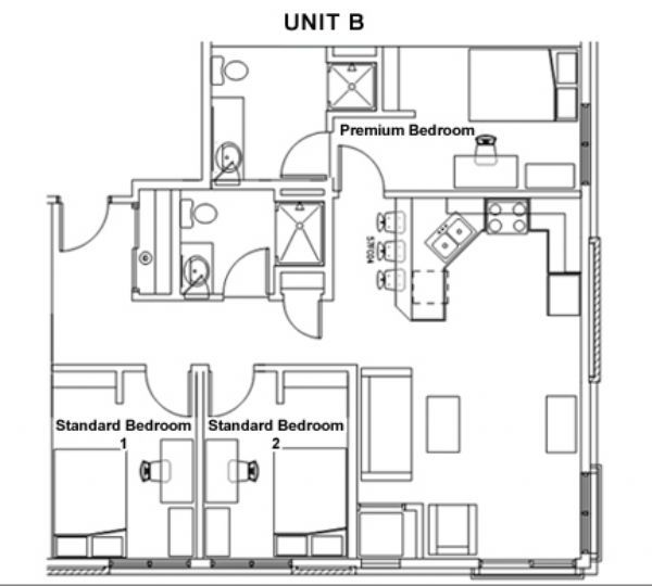 The park at 1824 apartments in milwaukee wisconsin for 3br 2ba floor plans