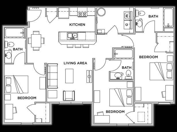 Floor Plans: 4 Bedroom/4 Bathroom ...
