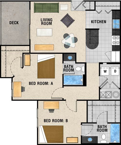 2br 2ba 989 Sq Ft Call For Price