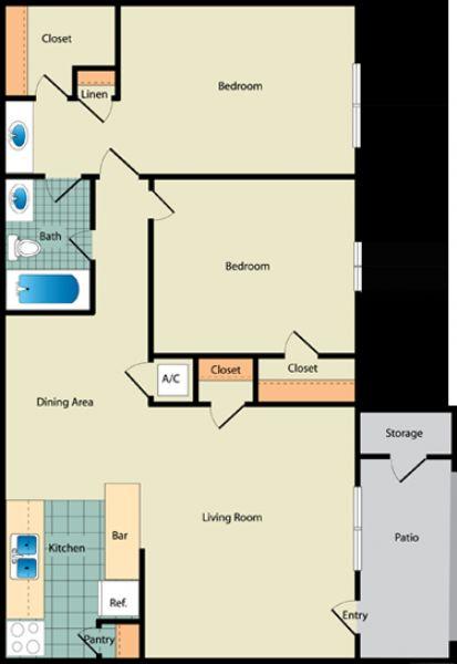 Crestview At Cordova Apartments Pensacola Florida on Pensacola Apartment Floor Plans