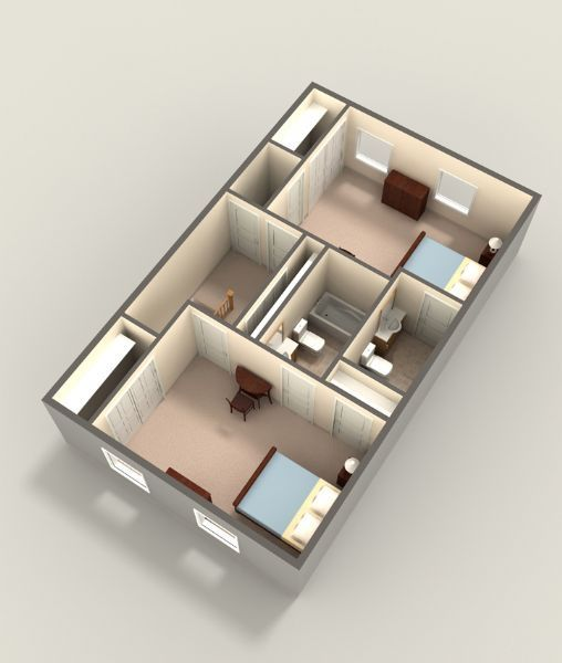 Two Bedroom Upper Level