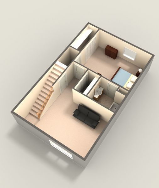 Three Bedroom Lower Level
