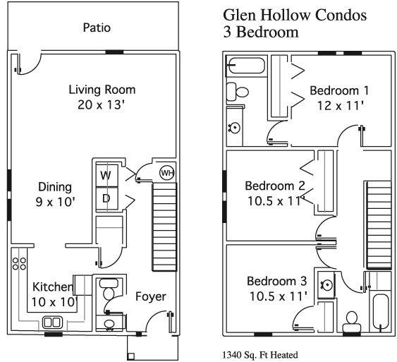 Glenn Hollow Apartments In Starkville, Mississippi