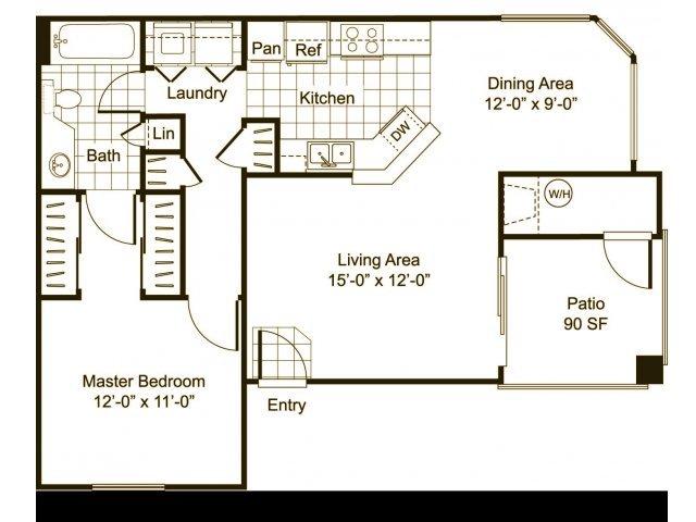 Cityscape at lakeshore apartments in tempe arizona