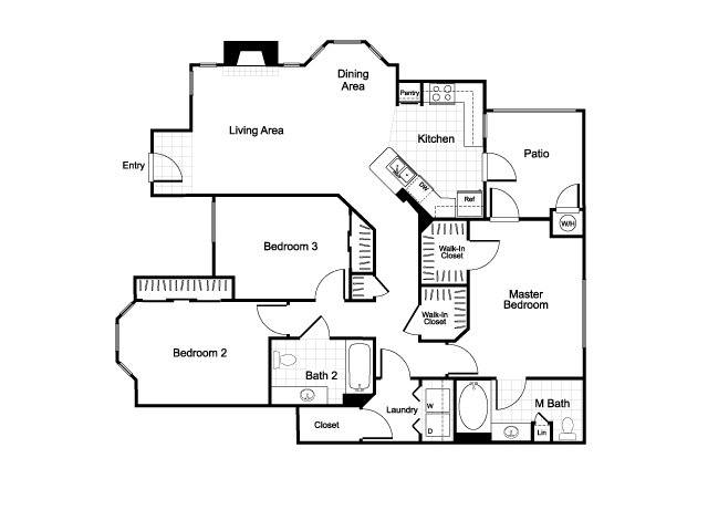 The palms at augusta ranch apartments in mesa arizona for 3br 2ba floor plans