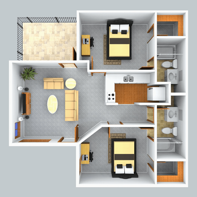 sophisticated 2 bedroom house plan for 650 sqft photos - ideas house