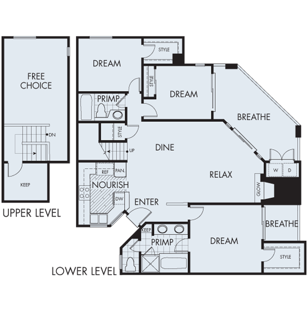 Valentia apartments in san diego california for 3br 2ba floor plans