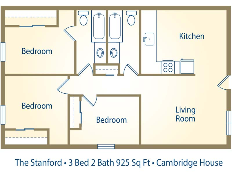 Cambridge house apartments in davis california - Average square footage of a 3 bedroom house ...