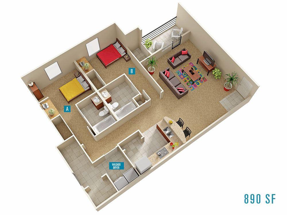 Campus Evolution Villages apartments in Spartanburg South Carolina – Usc Village Housing Floor Plans