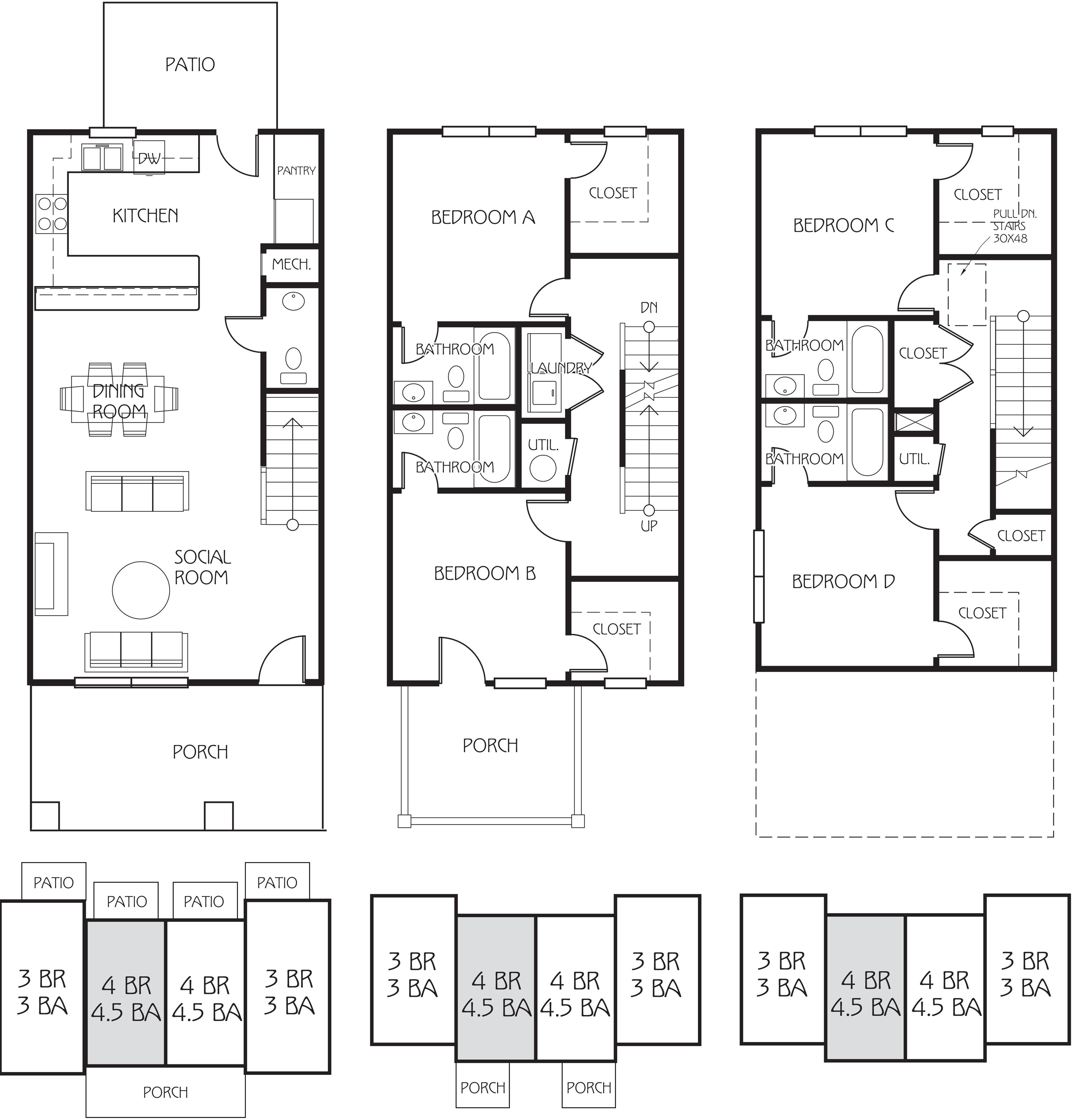 100 Student Apartment Floorplans The Retreat