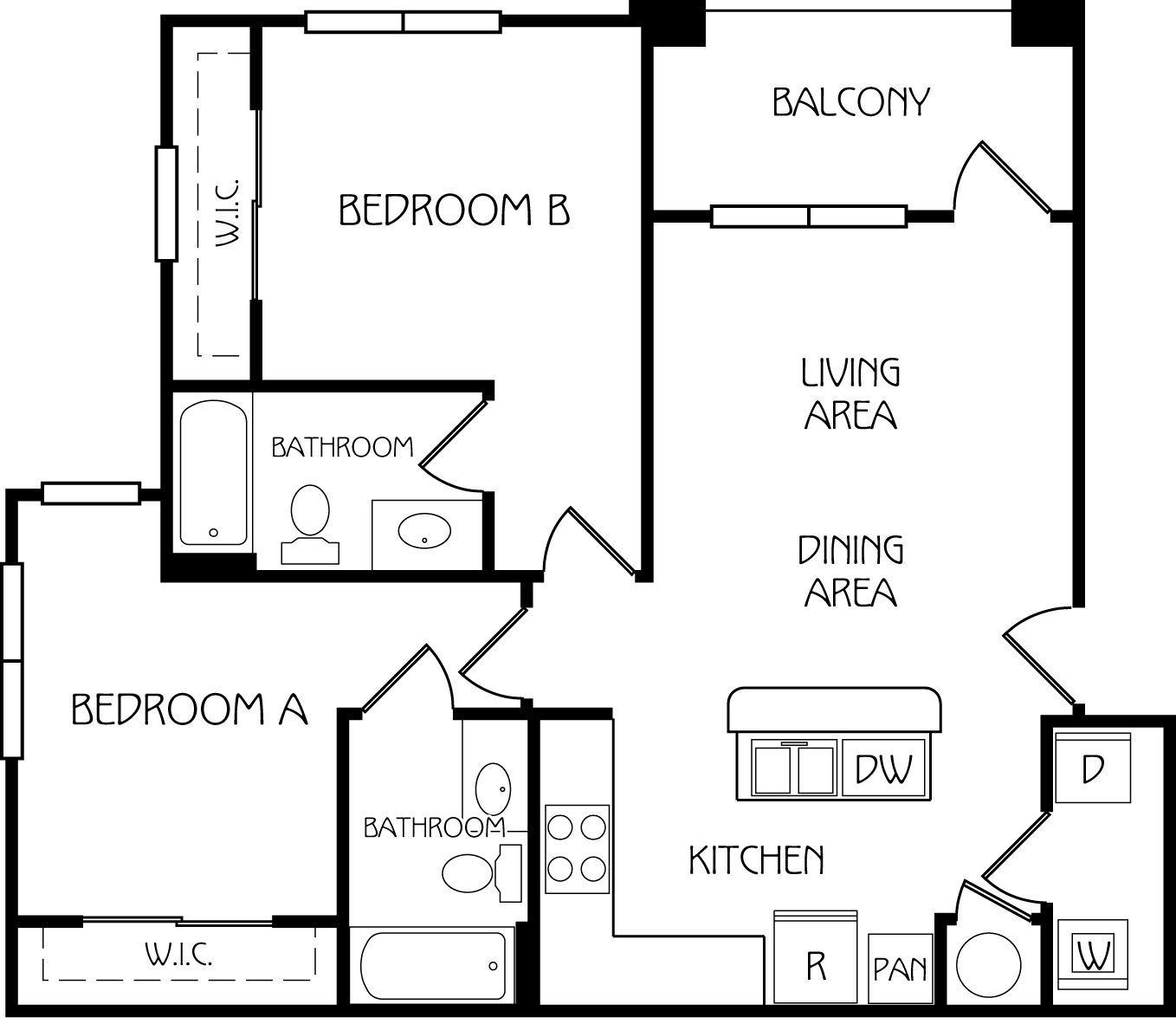 The retreat at corvallis apartments in corvallis oregon for The retreat floor plans