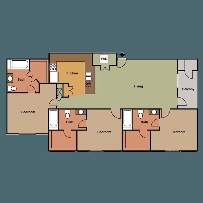 Apartments Near University Of Nebraska Lincoln: The View Lincoln Apartments In Lincoln, Nebraska