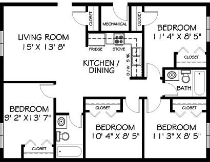 Highland Hills Apartments Mankato Minnesota on 750 sq ft floor plan