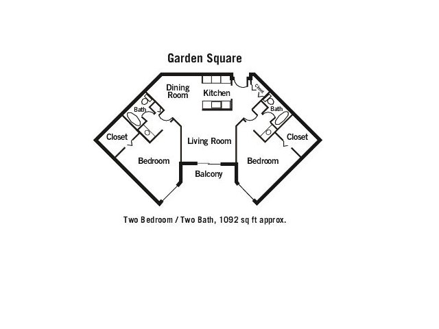 Garden Square apartments in St Cloud, Minnesota