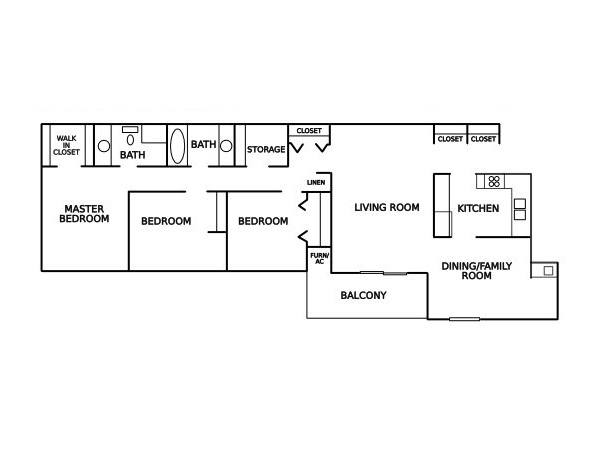 Lake forest apartments in muskegon michigan for 3br 2ba floor plans