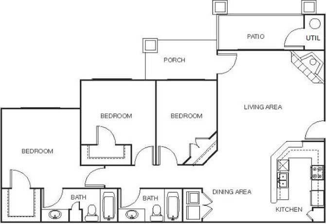 Shoreline landing apartments in muskegon michigan for 3br 2ba floor plans