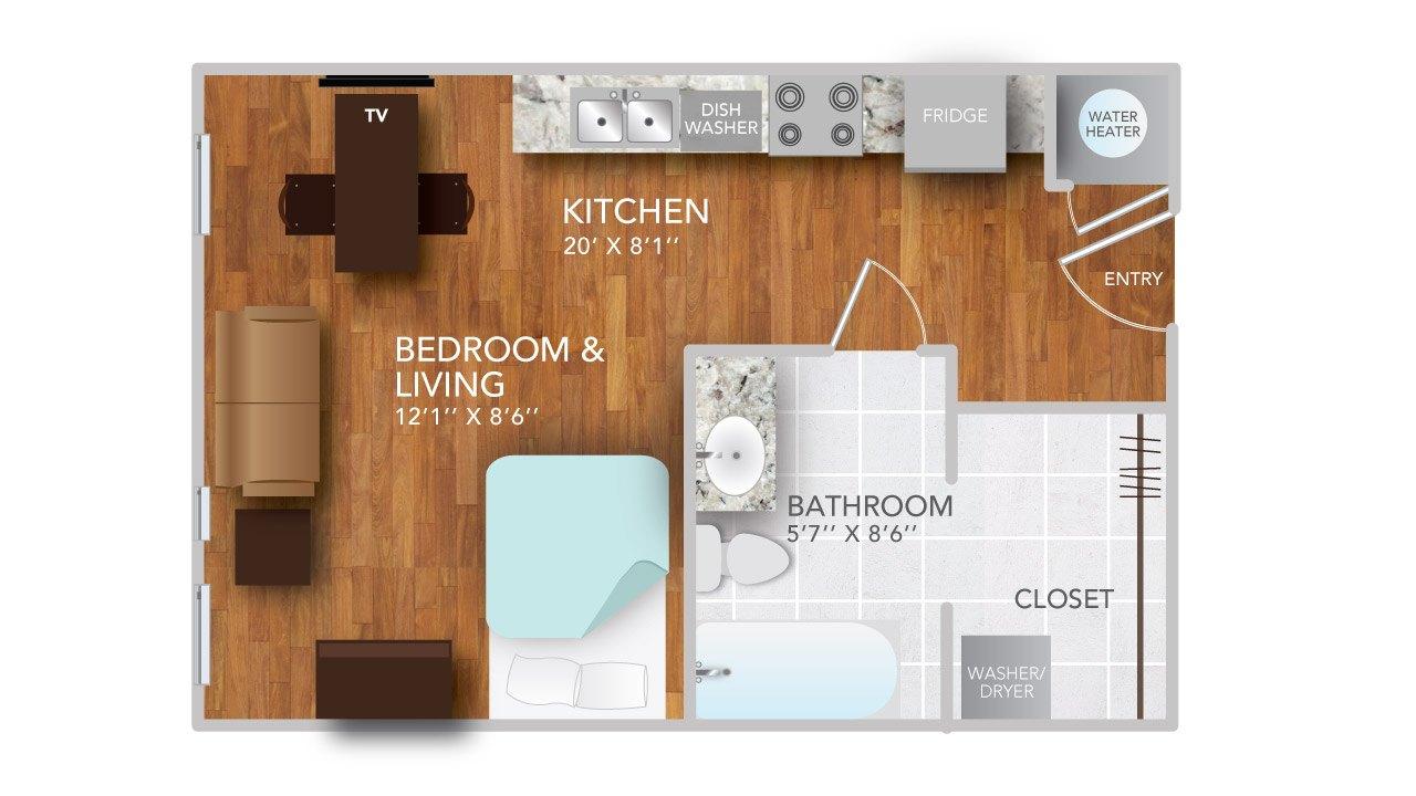 atmosphere apartments in fayetteville arkansas studio