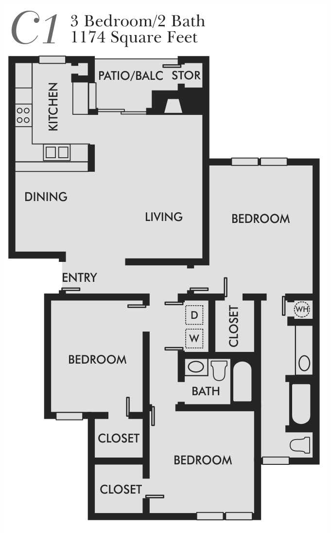 Brandon oaks apartments in san antonio texas for 3br 2ba floor plans