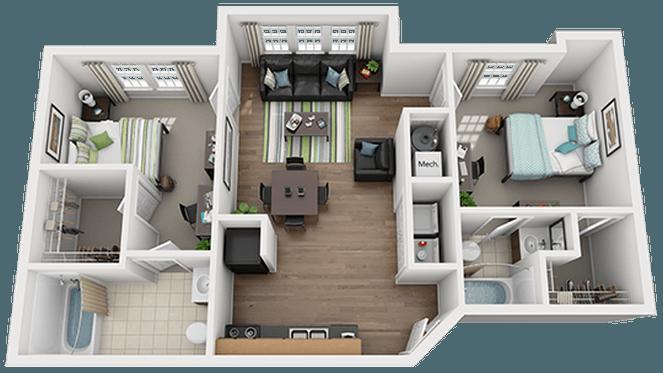 Mustang Village Apartments In Wichita Falls Texas