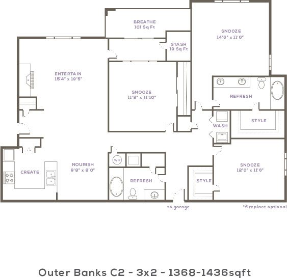 Thornhill apartments in raleigh north carolina for 3br 2ba floor plans