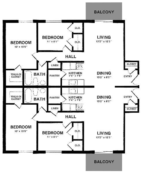 Apartment Layout: Roanoke Street Apartments In Blacksburg, Virginia
